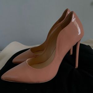 Light Pink Pointy High Heels